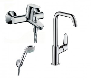 Zestaw wannowy Hansgrohe FOCUS E2 , 31609000 + 3194000 + 27558000 - 7263